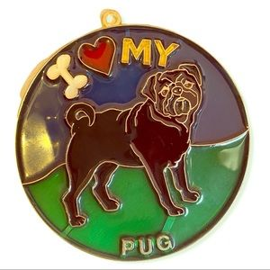 handmade Other - Pug handmade stained glass ornament